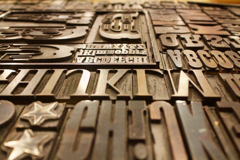 Texttypen für Druck. Foto: Pixabay
