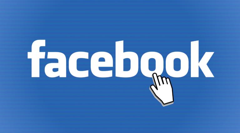 Das Logo von Facebook mit einem Cursor